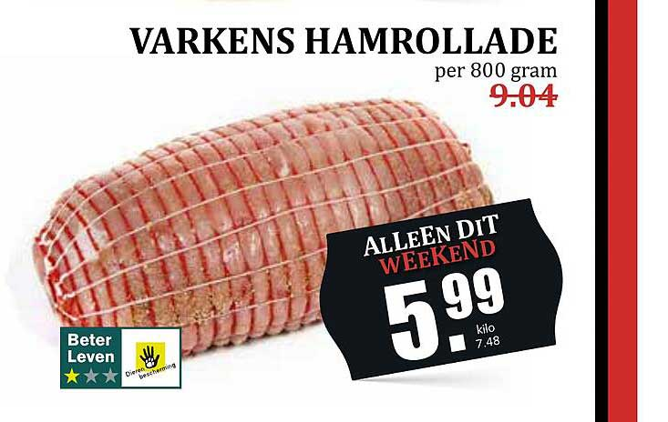 MCD Supermarkt Varkens Hamrollade