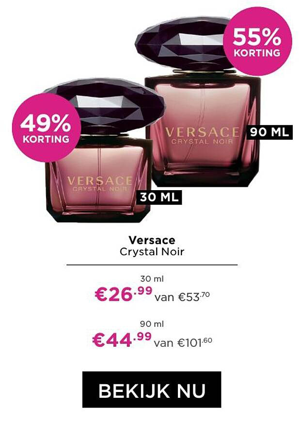 ICI PARIS XL Versace Crystal Noir 49% - 55% Korting