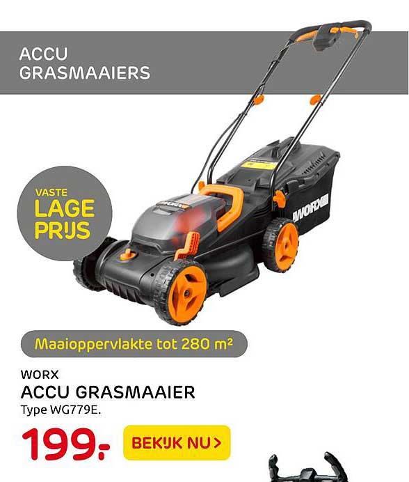 Praxis Worx Accu Grasmaaier