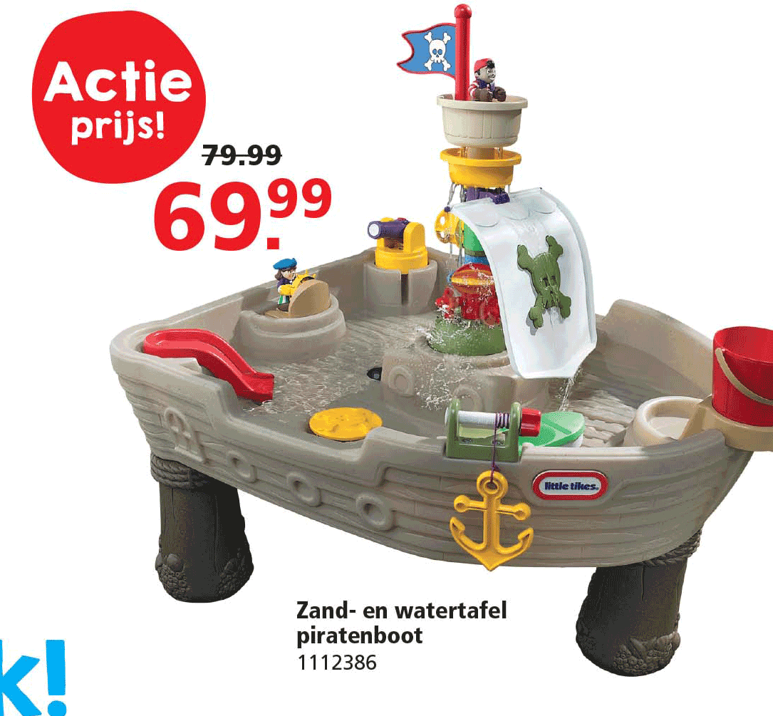 Intertoys Zand- En Watertafel Piratenboot