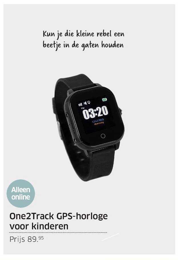 ANWB One2Track GPS-Horloge Voor Kinderen