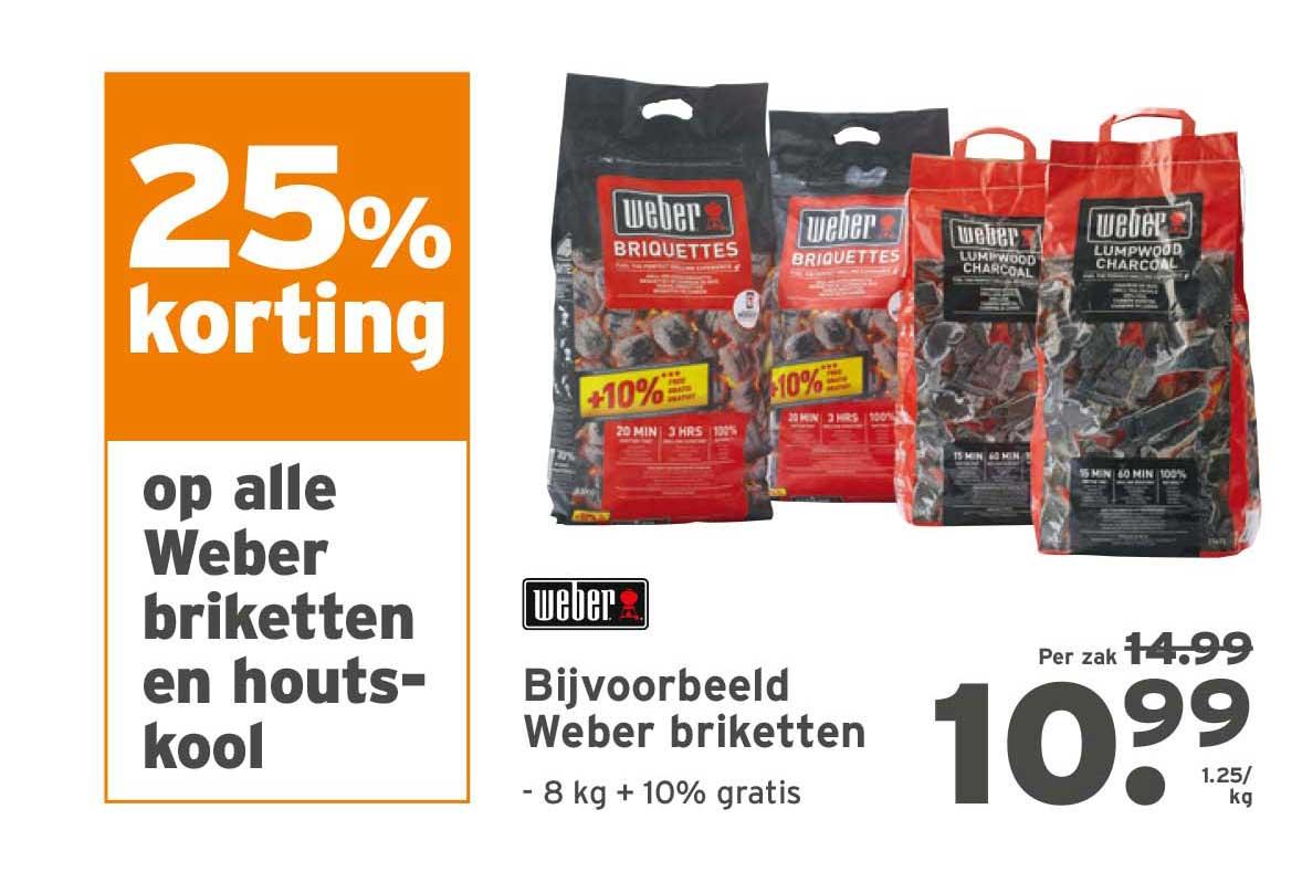 Gamma 25% Korting Op Alle Weber Briketten En Houtskool