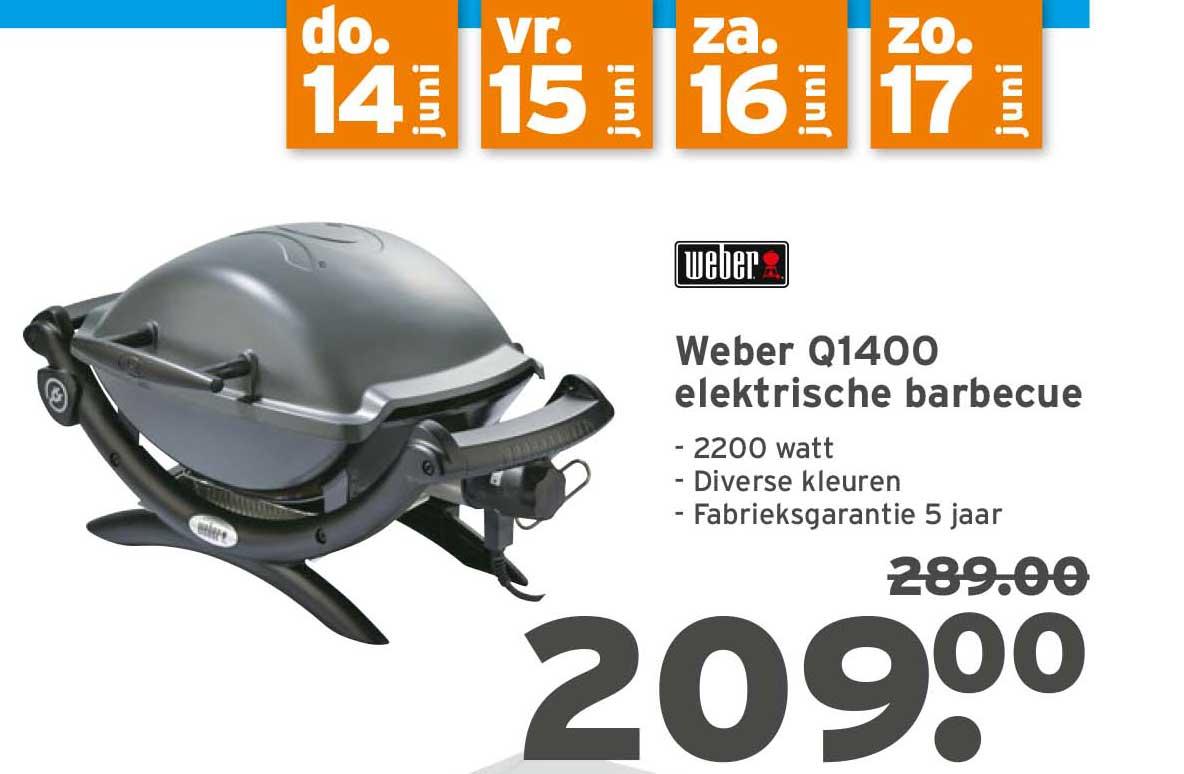 Gamma Weber Q1400 Elektrische Barbecue