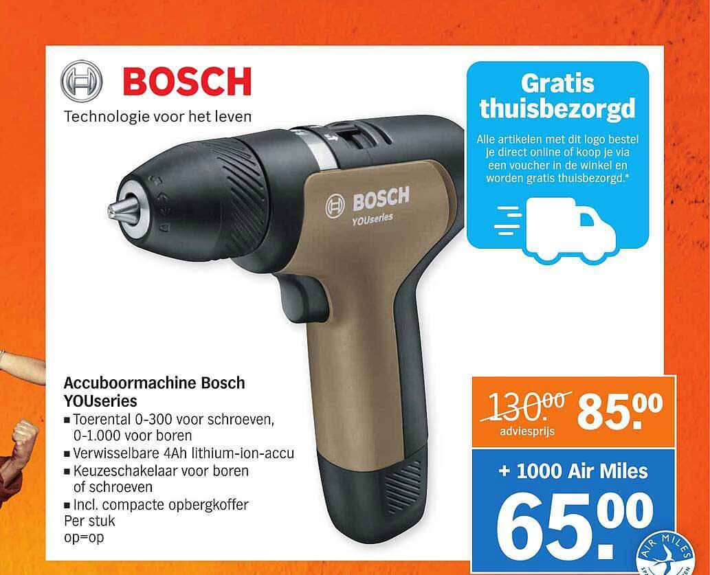 Albert Heijn Bosch Accuboormachine Bosch Youseries