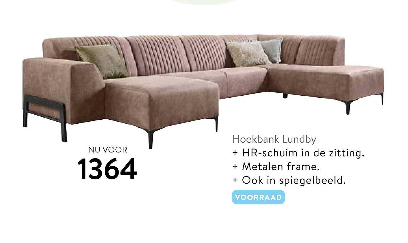 Profijt Meubel Hoekbank Lundby
