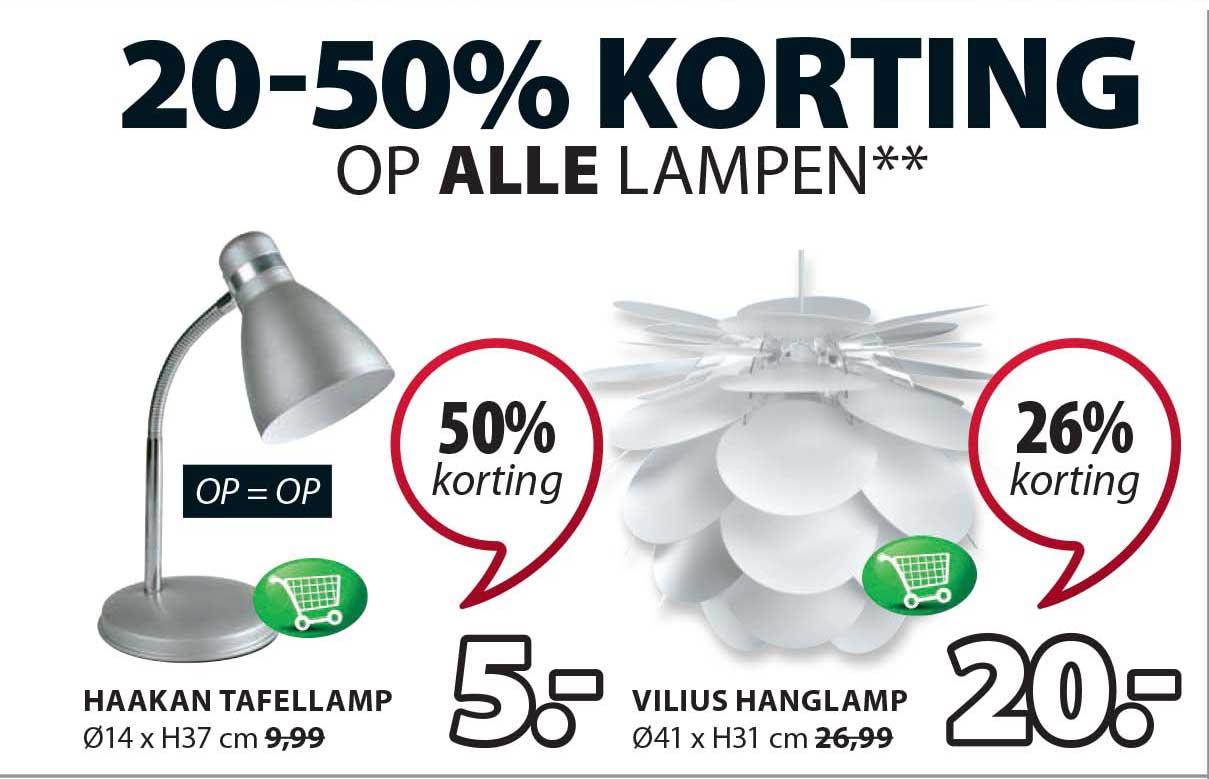 Jysk 20-50% Korting Op Alle Lampen