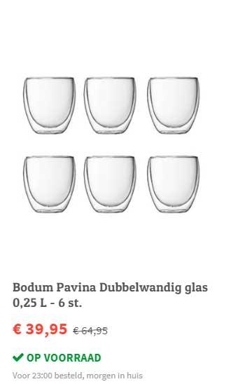 FonQ Bodum Pavina Dubbelwandig Glas