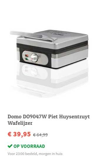 FonQ Domo DO9047W Piet Huysentruyt Wafelijzer