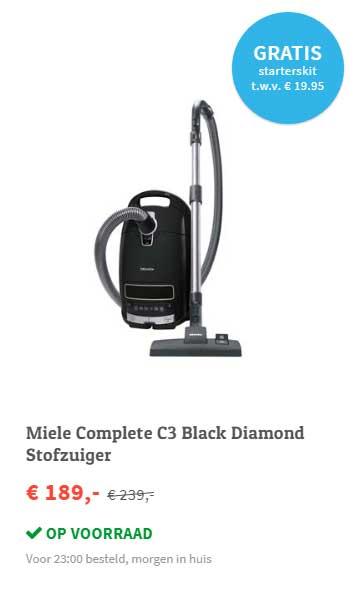 FonQ Miele Complete C3 Black Diamond Stofzuiger