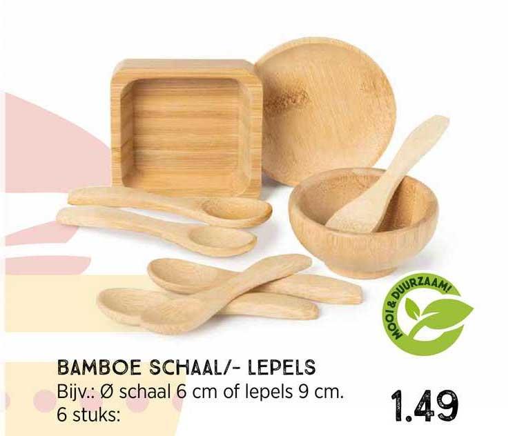 Xenos Bamboe Schaal-- Lepels