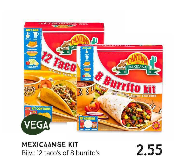 Xenos Mexicaanse Kit 12 Taco's Of 8 Burrito's