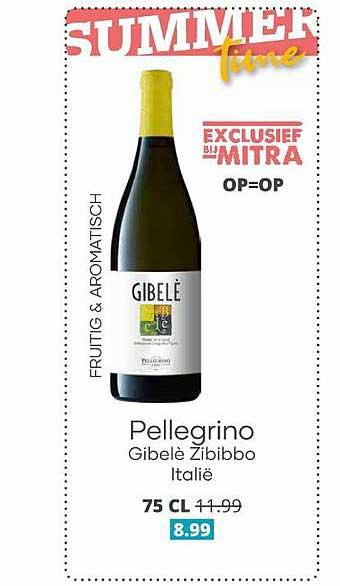 Mitra Pellegrino Gibelè Zibibbo Italië