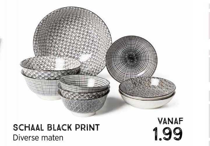 Xenos Schaal Black Print