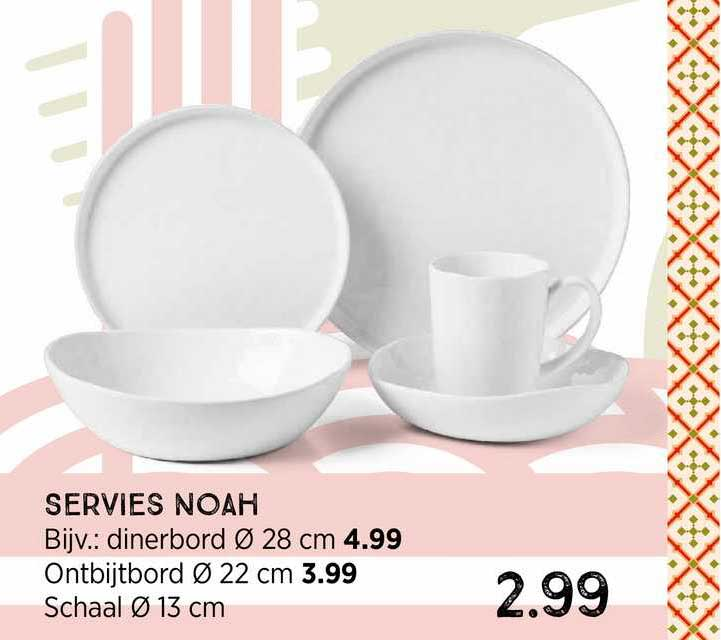 Xenos Servies Noah : Dinerbord Ø 28 Cm, Ontbijtbord Ø 22 Cm Of Schaal Ø 13 Cm