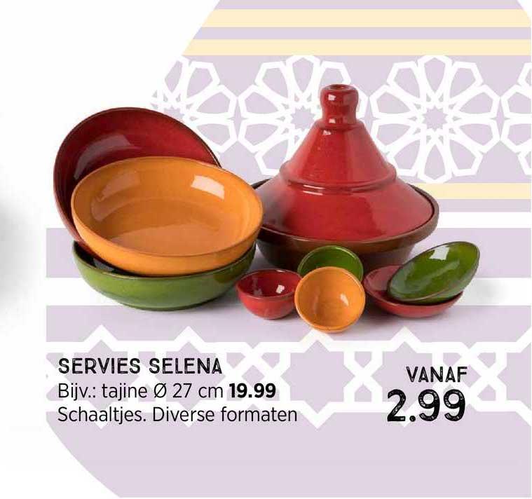 Xenos Servies Selena : Tajine Ø 27 Cm Of Schaaltjes