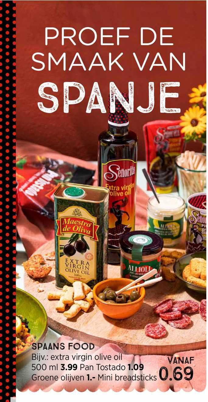 Xenos Spaans Food : Extra Virgin Olive Oil 500 Ml, Pan Tostado Groene Olijven Of Mini Breadsticks