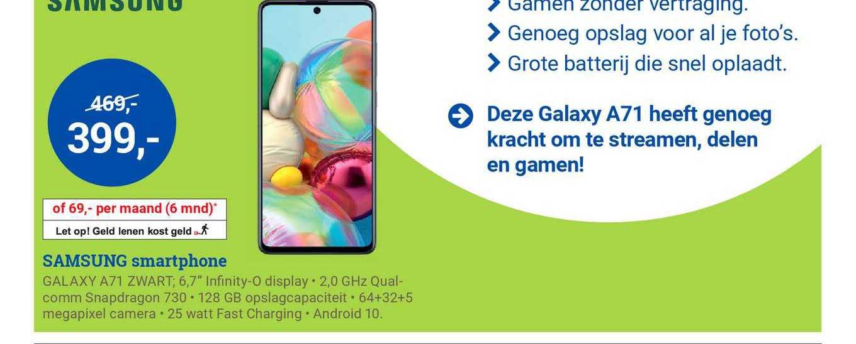 BCC Samsung Galaxy A71 Smartphone