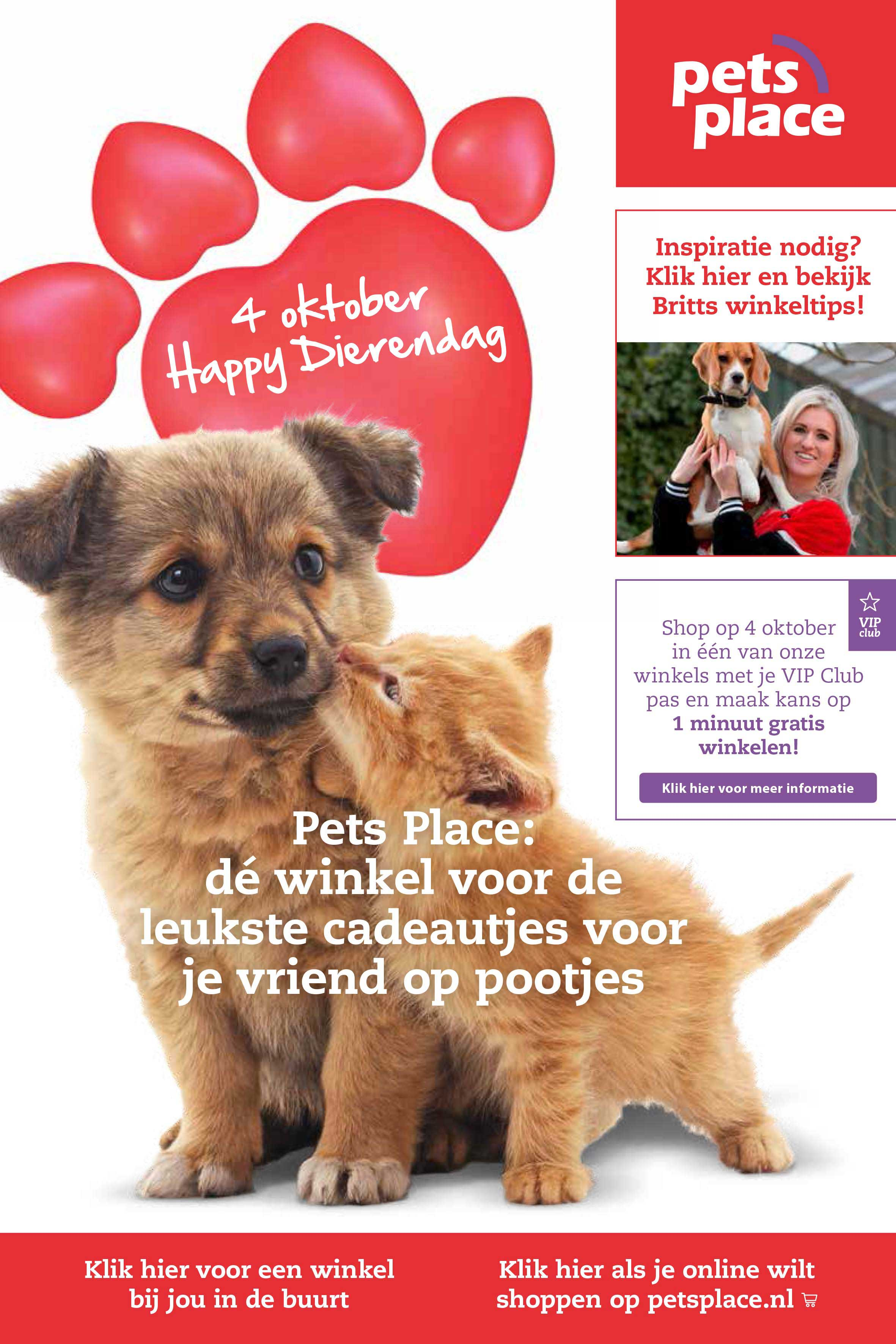 Pets Place 4 Oktober Happy Dierendag