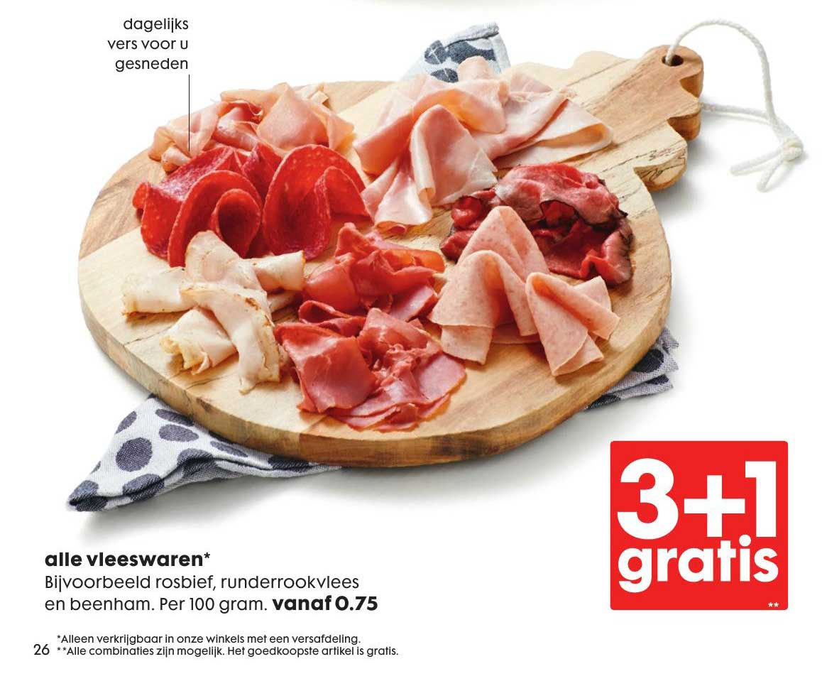 HEMA Alle Vleeswaren: 3+1 Gratis