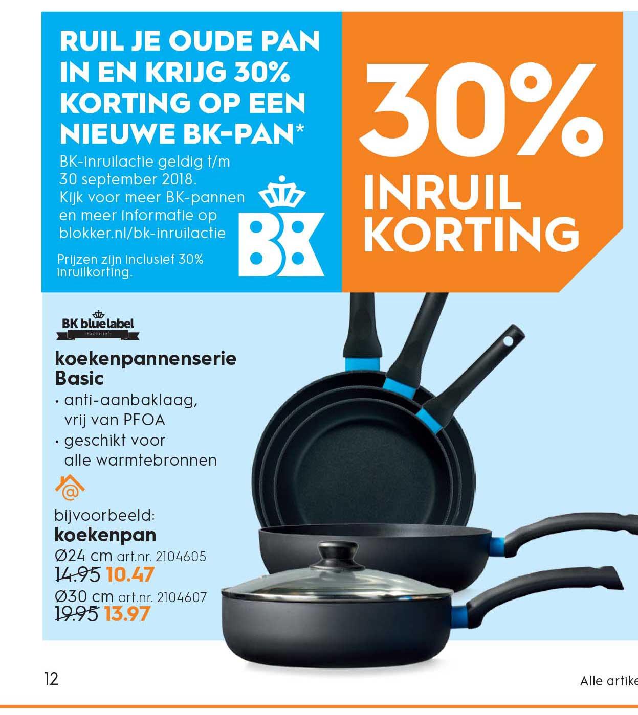 Blokker Ruil Je Oude Pan In En Krijg 30% Korting Op Een Nieuwe Bk Pan