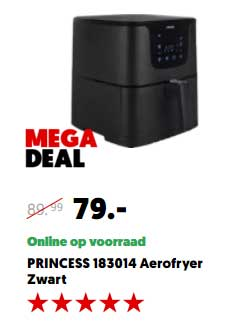 MediaMarkt Princess 183014 Aerofryer Zwart