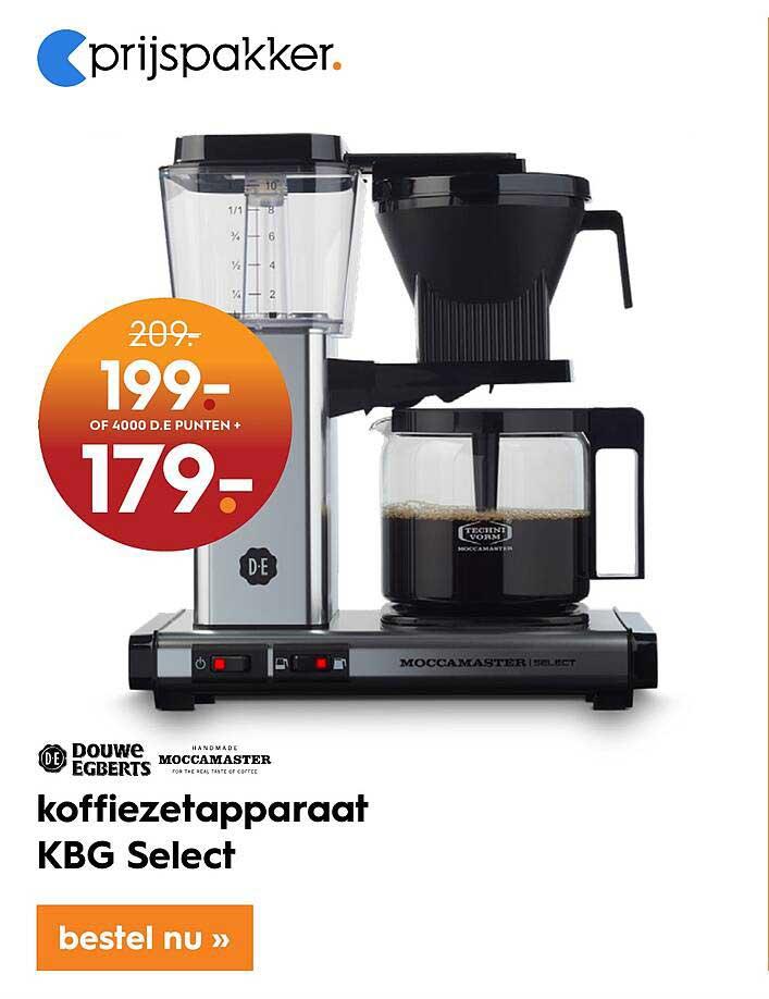 Blokker Douwe Egberts Of Moccamaster Koffiezetapparaat KBG Select