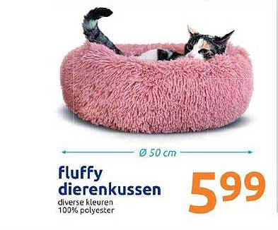 Action Fluffy Dierenkussen