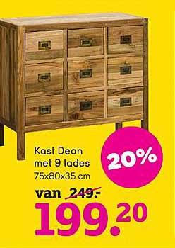 Kast Dean Met 9 Lades 20 Korting Aanbieding Bij Leen Bakker Leenbakker heeft meer dan 100 winkels in nederland. aanbiedingenfolders nl
