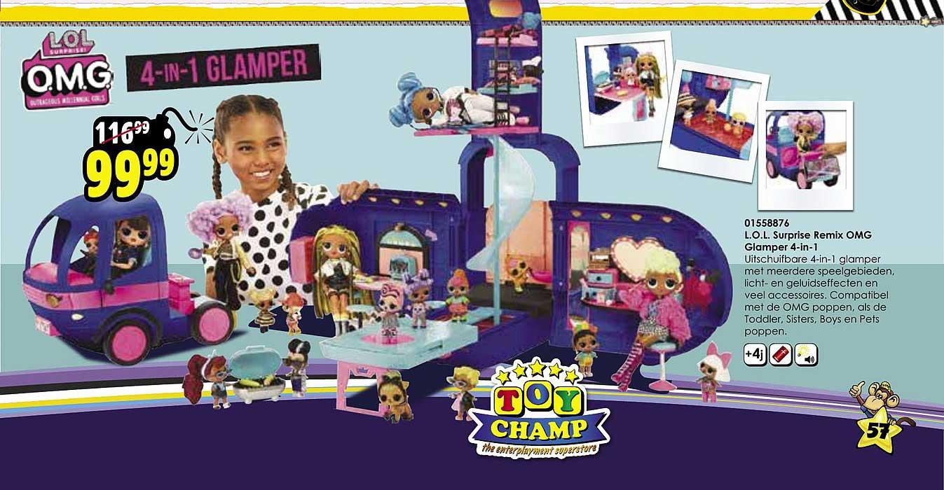 Toychamp L.o.l. Surprise Remix Omg Glamper 4 In 1