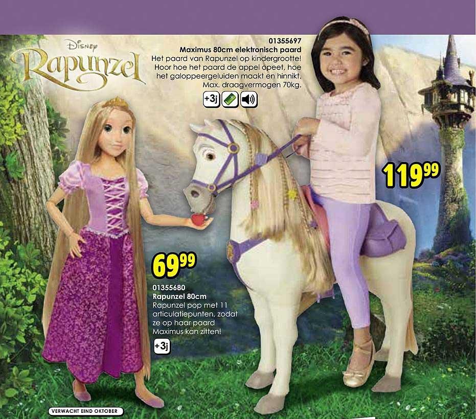 Toychamp Maximus 80cm Elektronisch Paard Rapunzel 80cm