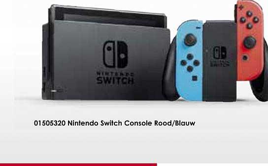 Toychamp Nintendo Switch Console Rood Blauw