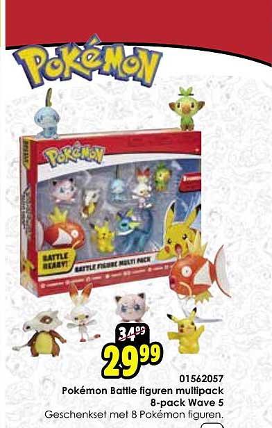 Toychamp Pokémon Battle Figuren Multipack 8 Pack Wave 5