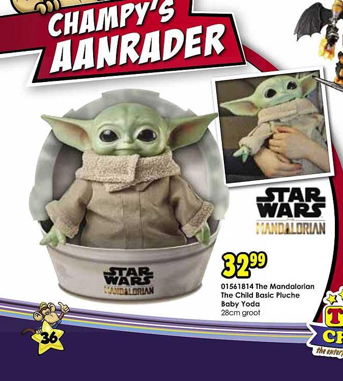Toychamp The Mandalorian The Child Basic Pluche Baby Yoda