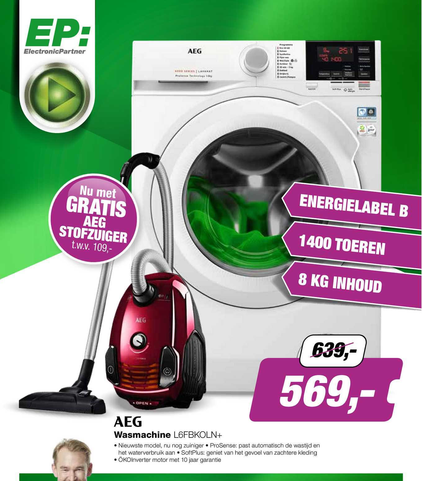 EP AEG Wasmachine L6FBKOLN+
