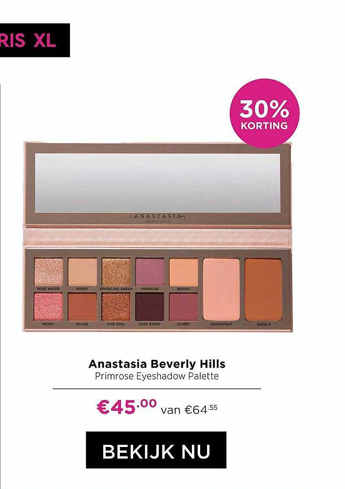 ICI PARIS XL Anastasia Beverly Hills Primrose Eyeshadow Palette 30% Korting