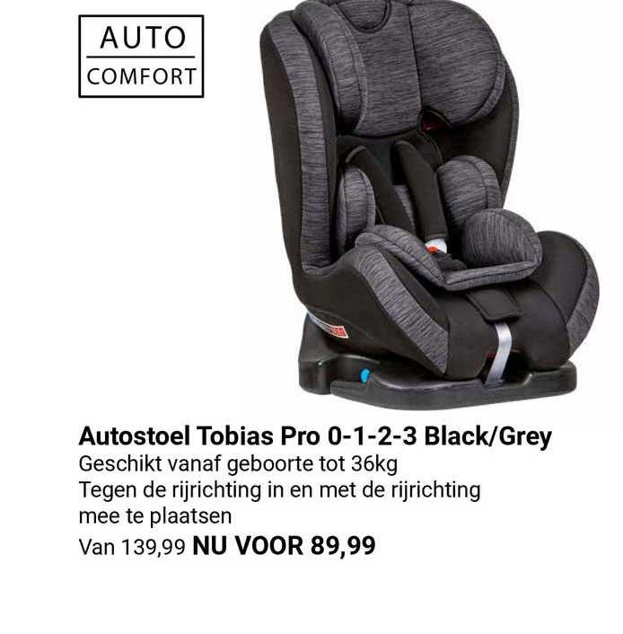 Van Asten Autostoel Tobias Pro 0-1-2-3 Black-Grey