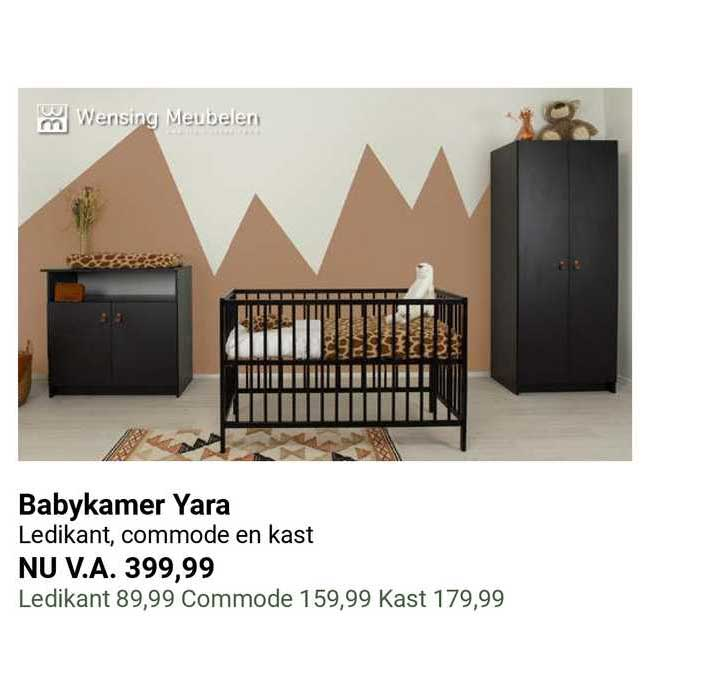 Van Asten Babykamer Yara Ledikant, Commode En Kast