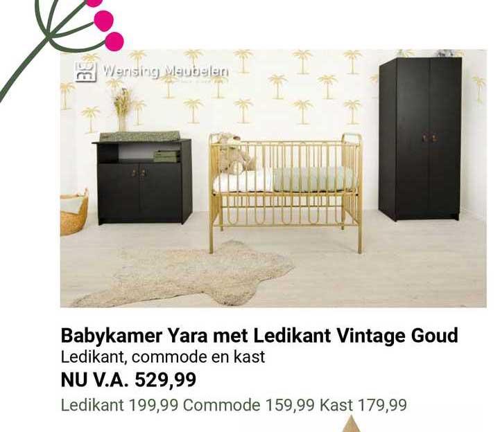 Van Asten Babykamer Yara Met Ledikant Vintage Goud : Ledikant, Commode En Kast