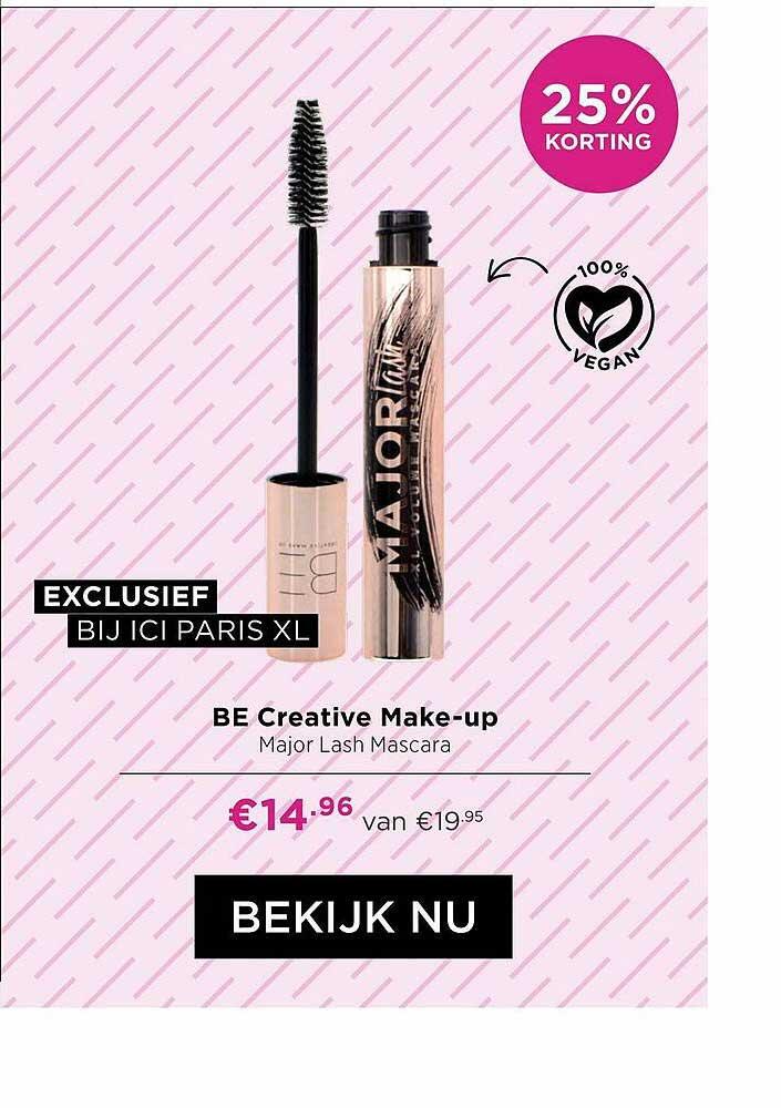 ICI PARIS XL Be Creative Make-Up Major Lash Mascara 25% Korting