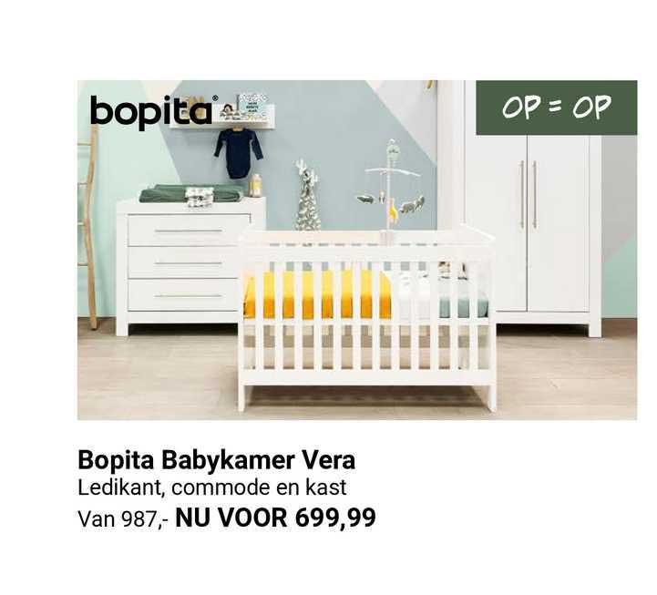 Van Asten Bopita Babykamer Vera Ledikant, Commode En Kast