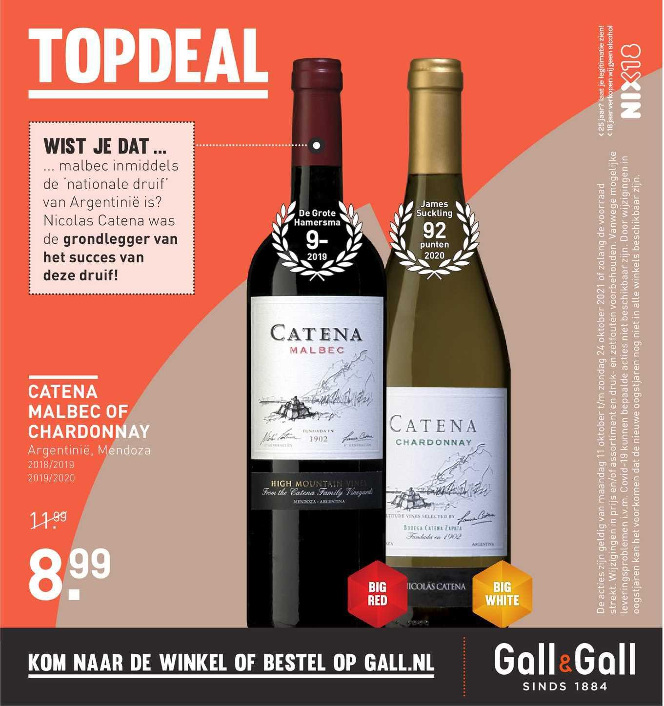 Gall & Gall Catena Malbec Of Chardonnay