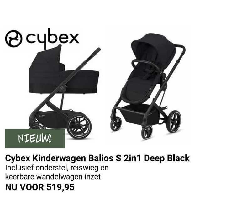 Van Asten Cybex Kinderwagen Balios S 2in1 Deep Black