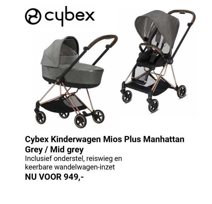Van Asten Cybex Kinderwagen Mios Plus Manhattan Grey - Mid Grey