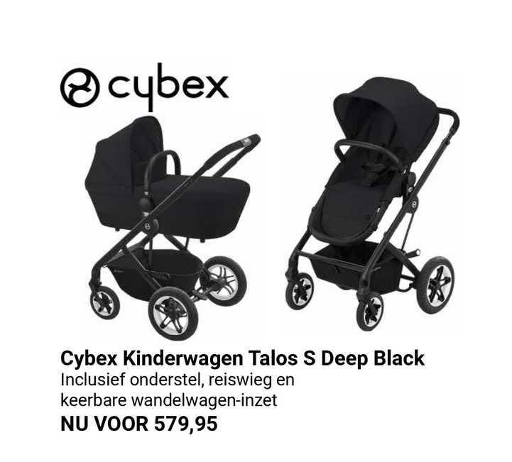 Van Asten Cybex Kinderwagen Talos S Deep Black