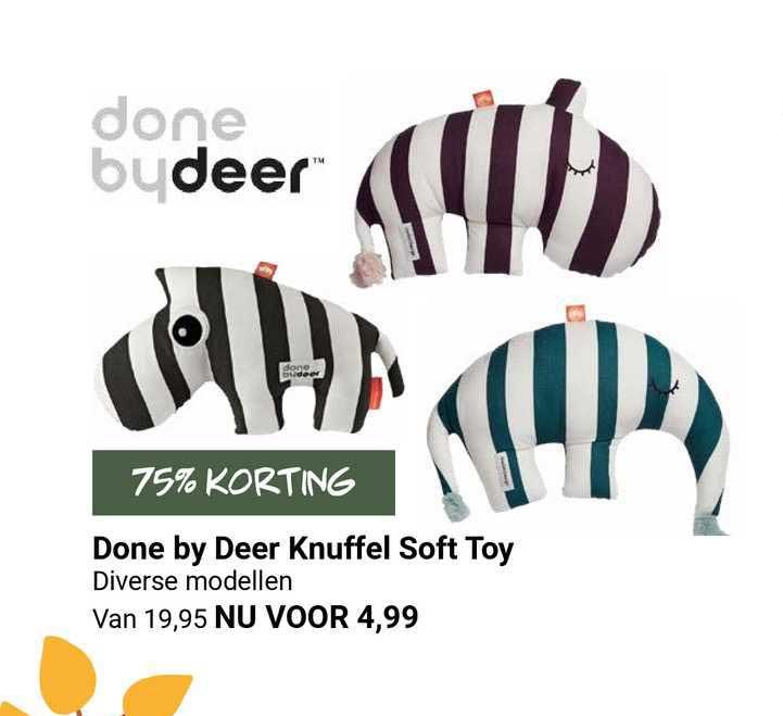 Van Asten Done By Deer Knuffel Soft Toy 75% Korting
