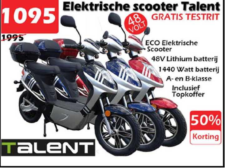 ITEK Elektrische Scooter Talent 50% Korting