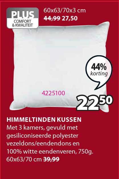 Jysk Himmeltinden Kussen 44% Korting
