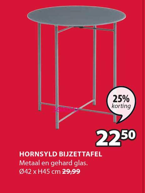 Jysk Hornsyld Bijzettafel 25% Korting