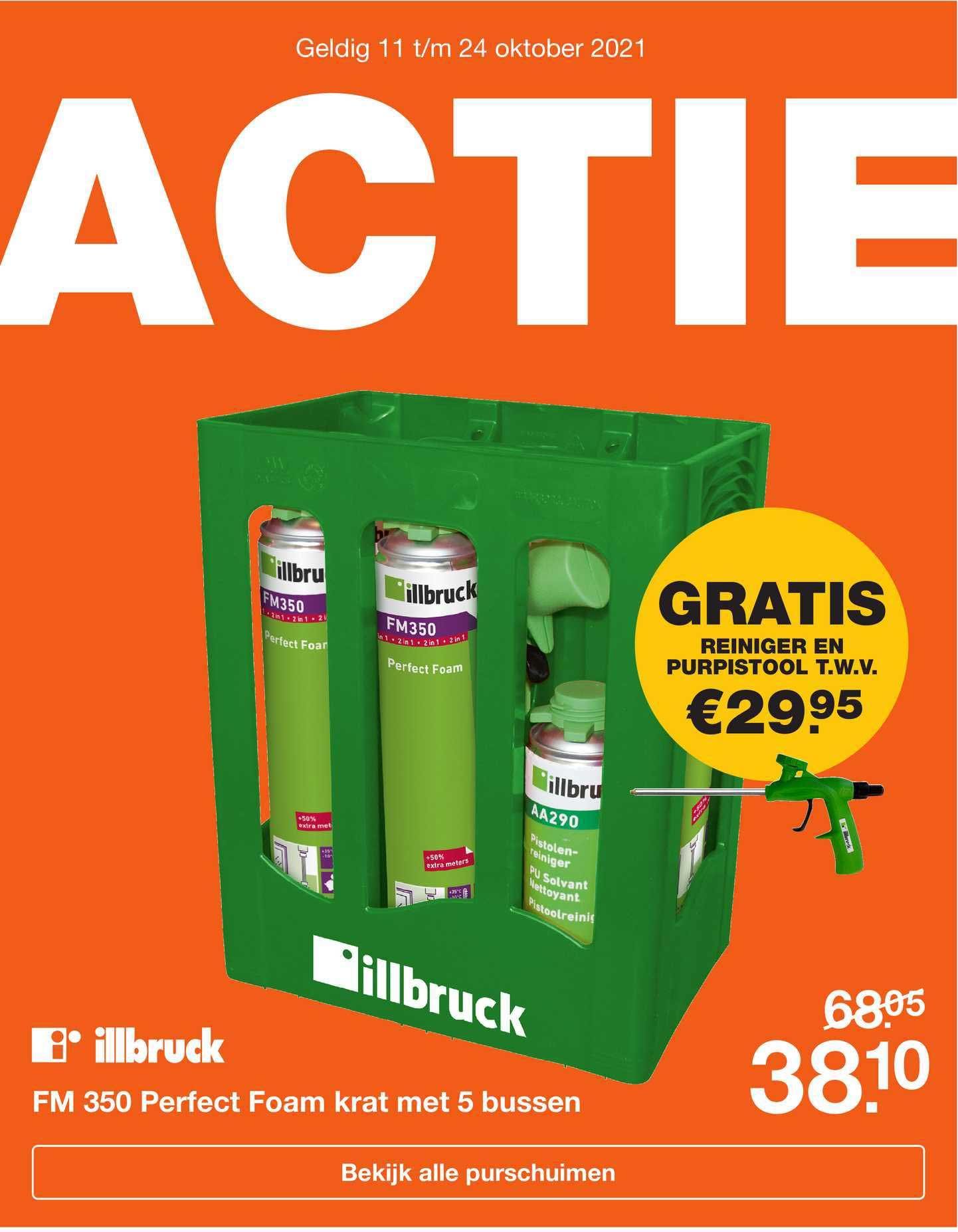 Bouwmaat Illbruck FM 350 Perfect Foam Krat Met 5 Bussen