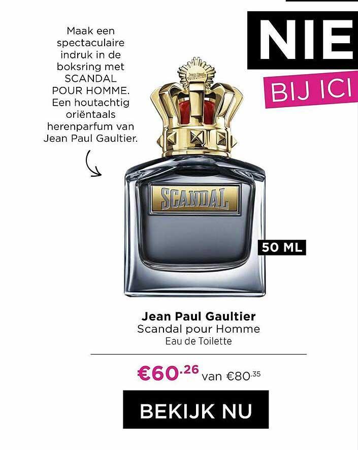 ICI PARIS XL Jean Paul Gaultier Scandal Pour Homme Eau De Toilette
